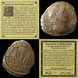 First Christian Empire ROMAN BRONZE COIN Genuine Ancient Antique from 306 410 AD