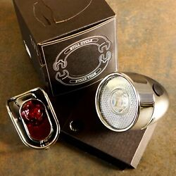Still Classic Vintage Metal Bicycle Light / Front / Rear / Silver For Road City