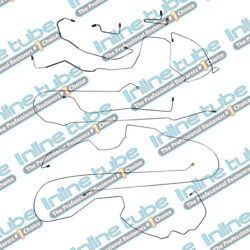 2000-2005 Impala Preformed Brake Line Set With Abs Complete Kit Tube Stainless