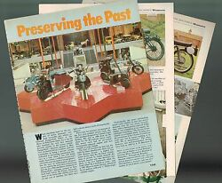 Old Vintage Motorcycle Museum Article/photos/pictures Preservation,indian,trump