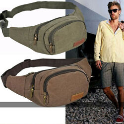 Mens Military Cycling Waist Fanny Pack Bum Belt Bag Pouch Travel Hip Purse New $8.99