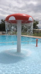 SPLASH PAD SWIMMING POOL MUSHROOM WATER FEATURE 8' DIAMETER