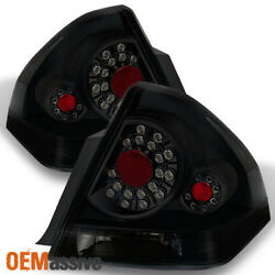 Fit 06-13 Chevy Impala Black Smoked Led Tail Lights Replacement