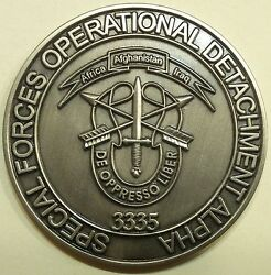 3rd Special Forces Gp Airborne 3rd Bn C Co. Oda-3335 Bushmen Army Challenge Coin