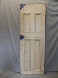 Antique Country Cupboard Door Cabinet Pantry Kitchen Vtg Chic Old 55x19 308-17p