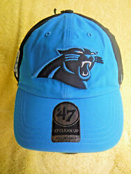 New W/ Stickers-carolina Panthers 47 Clean Up Adjustable Embroidered Nfl Cap Hat