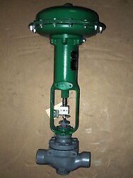 1-1/2 Fisher 667 Size 34 Actuated Threaded Iron 250 3-15 Psi Globe Valve