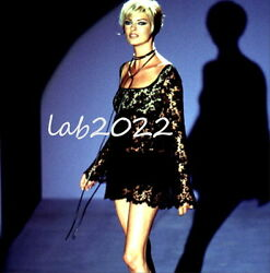 GUCCI TOM FORD Lace Runway Dress Chic Linda Evangelista