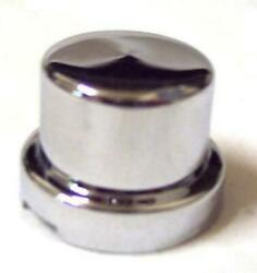 Nut Covers5 1/2 And 13mm Flat Top Hat Chrome Plastic 5/8 Tall Peterbilt Kenwor