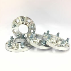 4pc 15mm Wheel Adapters   Hubcentric 5x114.3 To 5x100 66.1mm Bore   12x1.25 Stud