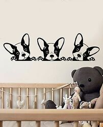 Vinyl Wall Decal Puppies Pets French Bulldog Animals Stickers (1610ig)