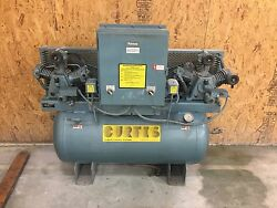 Curtis Duplex Tank Mounted Compressor 3 hp All Voltages Climate Control 11.3 CFM
