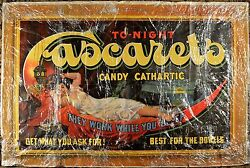 Rare Cascarets Cathartic Candy Paper Advertising Lithograph, Lady On Moon