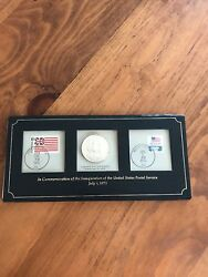 Inauguration Of Usps.july 1971..ltd.ed.sterling Silver Coin And 1st Issue Stamps