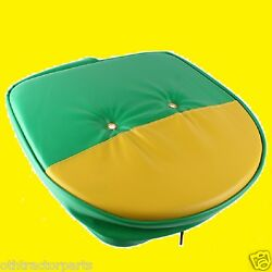 Universal Mower Farm Tractor Cushion Seat Cover Green And Yellow John Deere T295gy