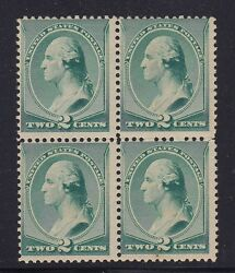 213 Block Of 4 F-vf Og Never Hinged Nice Color Cv 520 See Pic