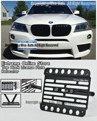 11-up For Bmw X3 Front License Plate Bracket Holder Tow Hook Mount Relocated F25