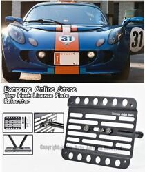 2007-11 For Lotus Exige S Front Tow Hook License Plate Relocator Bumper Bracket