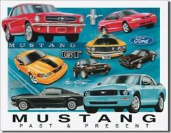 Ford Mustang Chronology Past And Present Gt Mach I Tin Metal Sign Made In The Usa