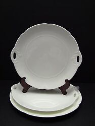 Villeroy And Boch Montclair Weiss Bone China Chop Plate And 2 Handle Platters