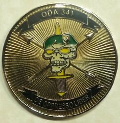 3rd Special Forces Group Airborne 2nd Bn Bush-hogs Oda-341 Army Challenge Coin