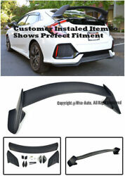 Civic Hatchback 5dr 17-up Type R Style Rear Roof Spoiler Wing Abs Plastic Ctr