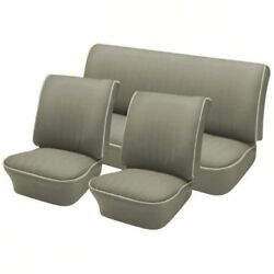 1958 - 64 Volkswagen Vw Bug Oem Classic Seat Upholstery Front And Rear Gray