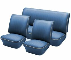 1958 - 64 Volkswagen Vw Bug Oem Classic Seat Upholstery Front/rear Water Blue