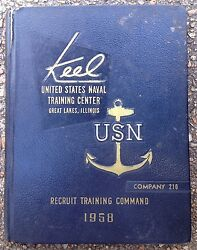 1958 U. S. Navy Basic Training School Yearbook, The Keel, 210, Great Lakes, Il