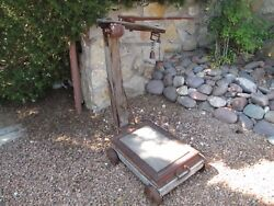 Antique Fairbanks Scale Old West Farm And Ranch General Store Depot Feed Store