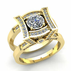 Genuine 3ctw Round Cut Diamond Womens Solitaire Engagement Ring Jacket 14k Gold