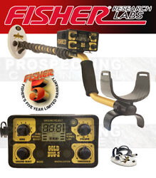 Fisher Gold Bug 2 Metal Detector Combo 6.5 And 10 Dd Waterproof Coil + Dvd And Mag
