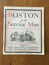 1943 Boston For The Service Man New England Telephone And Telegraph Co Wwii