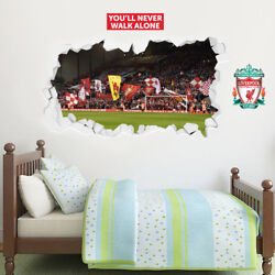 Liverpool Football Club Anfield #x27;The Kop#x27; Smashed Wall Mural Badge Decal Set