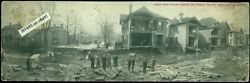 1913 Chillicothe, Oh, Flood Disaster Panoramic View, 4th Street, Double Postcard