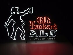 New Old Tankard Ale Brewed By Pabst Neon Beer Sign Brew Blue Ribbon Light Red