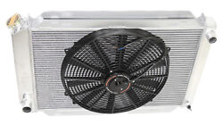 For 79-93 Ford Mustang Glx Lx Gt Svt 3 Row Aluminum Racing Radiator+16 Fans