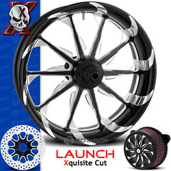 Xtreme Machine Launch Xquisite Cut Motorcycle Wheel Front Package Harley 21 Pm