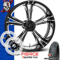 Xtreme Machine Fierce Xquisite Contrast Cut Wheel Front Package Harley 21