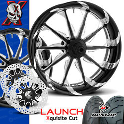 Xtreme Machine Launch Xquisite Motorcycle Wheel Full Package Harley 21