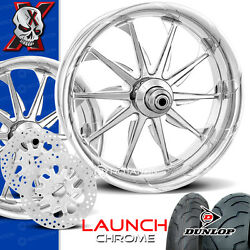 Xtreme Machine Launch Chrome Motorcycle Wheel Full Package Harley 21