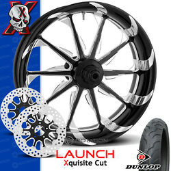 Xtreme Machine Launch Xquisite Cut Motorcycle Wheel Front Package Harley 21