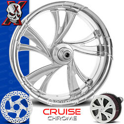 Xtreme Machine Cruise Chrome Wheel Front Package Tire Harley Baggers 21 Pm