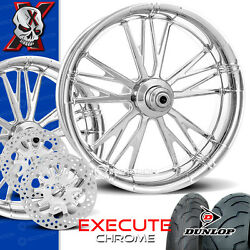 Xtreme Machine Execute Chrome Motorcycle Wheel Full Package Harley 21