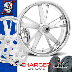 Xtreme Machine Charger Chrome Motorcycle Wheel Full Package Harley 21