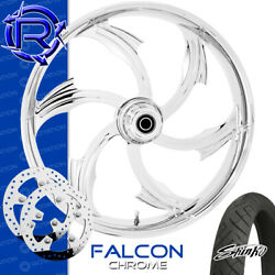 Rotation Falcon Chrome Custom Motorcycle Wheel Front Package Harley Touring 26