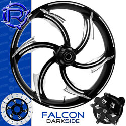 Rotation Falcon Darkside Custom Motorcycle Wheel Front Package Harley Fatboy 18