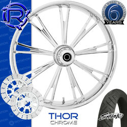 Rotation Thor Chrome Custom Motorcycle Wheel Front Package Harley Touring 26