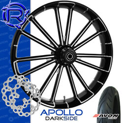 Rotation Apollo Darkside Custom Motorcycle Wheel Front Package Harley Touring 23