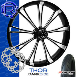 Rotation Thor Darkside Custom Motorcycle Wheel Front Package Harley Touring 23